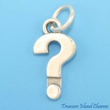 """QUESTION MARK """"?"""" PUNCTUATION SCHOOL 3D .925 Solid Sterling Silver Charm"""