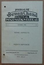 Dewan Chand Political Information Bureau monthly 1940 ASPECTS OF INDIA'S DEFENCE