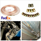 14 In.od Roll Brake Line Tubing Kit Fittings For Fuel Transmission Systems