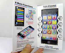 Y Phone Toy Music Kids Play Cell Phone Usb Rechargeable Computer Accessories New