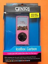GEAR4 Pink Crystal Icebox Carbon Crystal Case Cover for iPod Nano 4g + Lanyard