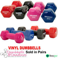 Vinyl Dumbbell Set Ladies Aerobic Weight Training Gym Strength Home Gym Fitness