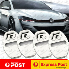 4x Volkswagen R Stainless Steel Chrome Door Lock Covers VW Golf Polo GTI 7 6 5