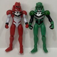 Power Rangers Jungle Fury Lot Red Green Ranger Action Figure Bandai 2007