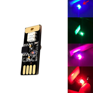 Car USB RGB LED Atmosphere Ambient Lamp Smart Touch Voice Control Interior Light