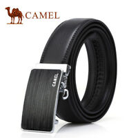 CAMEL CROWN Mens Leather Dress Belt Ratchet Waistband with Automatic Buckle Classic for Work Business Casual in Black//Coffee