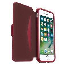 Genuine OtterBox Symmetry Folio Flip Case Wallet for Apple iPhone 7 - Cherry/Red