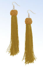 KITSCH Gold-Tone Woven Tassel Drop EARRINGS