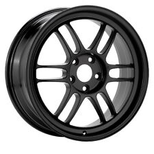 18x10.5 Enkei RPF1 5x114.3 +15 Black Rims Stance Fits Accord Rsx