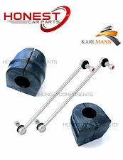 For BMW E46 Front Lower Stabilizer Link Bars & Anti Roll Bar D Bushes x2 Karlman