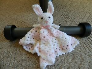 Handmade Crochet Lovey/Security Blanket - Bunny