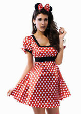 Sexy Minnie Mouse Christmas Halloween Cosplay Ladies Girls Fancy Dress Costume