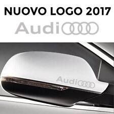 ADESIVI AUDI SPECCHIETTI auto 2 stickers A3 A4 A5 A6 Q3 Q5 s3 s4 ARGENTO Sline