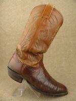 Nocona Boots 9010 Lizard Skin Brown Sz 8.5 D Men -n1