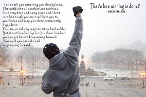 Large Rocky Balboa inspirational motivational quote Poster 91x61cm wall poster
