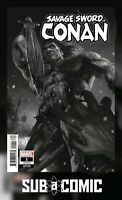 SAVAGE SWORD OF CONAN #1 RAHZZAH B&W 1:50 VARIANT (MARVEL 2019 1st Print) COMIC