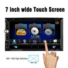 """7"""" HD 2 Din Car Stereo DVD Player Aux Input FM Radio Bluetooth USB/TF Video J1F2"""