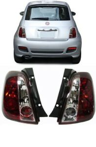 CLEAR TAIL LIGHTS LAMPS FOR FIAT 500 2007+ NICE GIFT