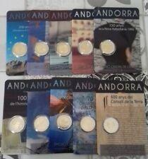 DISPO 2 euro ANDORRE Commémo de 2014 à 2019