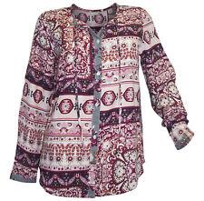 Bluse CHEER Gr. 40 weiß beere gemustert Druckbluse Ornamente Print neu