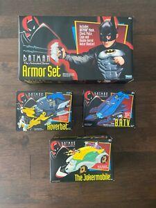 Lot of 4 Batman Animated Series Armour Set & 3 Vehicles Kenner NIB Joker Sealed