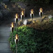 SOLAR LIGHT FLAME LAMP  TORCH WATERPROOF PATIO GARDEN DANCING FLICKERING