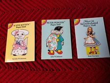 VINTAGE Lot OF 3 UNCUT, Never Used Paper Dolls, Alice In Wonderland and 2 more