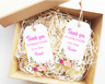 15x Personalised Vintage Birthday Wedding Baby Shower Flower Tag