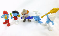 Smurf McDonalds Happy Meal 2011 3in Figures Lot of 5 With Hackus