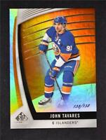 2017-18 17-18 UD Upper Deck SP Game Used Orange Rainbow #70 John Tavares /138