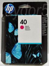 GENUINE HP HEWLETT PACKARD HP 40 MAGENTA INK CARTRIDGE 51640M 51640ME