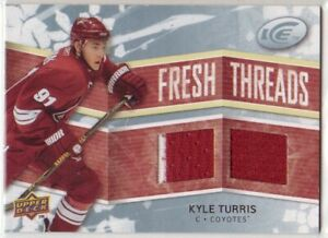 2008-09 Upper Deck Ice Fresh Threads KYLE TURRIS COYOTES 2 CL DUAL ROOKIE JERSEY