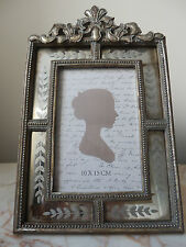 "ORNATA SILVER MIRROR GOLD Pannello stile vintage ""shabby chic"" Photo Frame 4"" x 6"""
