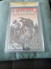The Mighty Thor #1 Blank Variant CGC 9.8 SS Signed & Sketch by Rob Hassan