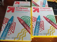 Up & Up Brand  Crayons 24-Pack Classic Colors Lot Of 4 Packs New