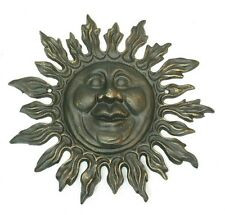 Distressed Cast Iron Celestial Sun Star Wall Mount Hanging Plaque Sunshine Sign