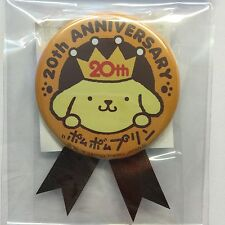 Sanrio Japan Pom Pom Purin Badge Pin Button Medal 20th Anniversary