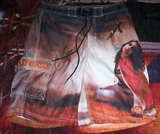 Vintage Ozzy Osbourne Blizzard Of Ozz Lp Art Dragonfly Surf Swim Board Shorts 32