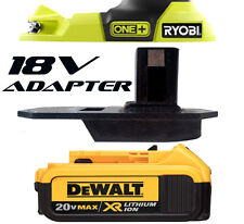 Dewalt Cordless Impact Driver Drill Battery Adapter to Ryobi 18v Tools