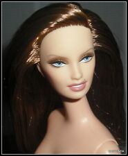 NUDE BARBIE  DOLL LONE STAR BFC EXCLUSIVE BRUNETTE/AUBURN BLUE EYES FOR OOAK