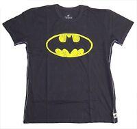 Dc Comics Trunk LTD Batman Classic Yellow Neon Logo Grey Shirt 2XL New Official
