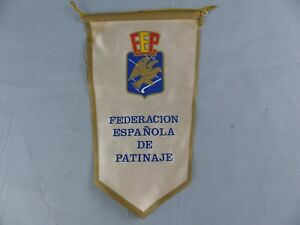 FANION PENNANT FEDERATION ESPANOLA DE PATINAJE F.F.P WIMPEL BANDERIN