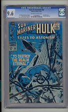 Tales to Astonish #98 CGC 9.6 NM+ Unrestored Marvel Hulk Sub-Mariner OW/W Pages