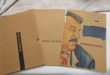 """2010, Two Booklets on Art of Daniel Heyman, """"Bearing Witness"""" Exhibits, SIGNED!"""