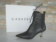 CASADEI Gr 38 Stiefeletten Ankle Boots Schuhe DUSE schwarz neu ehemUVP 795€