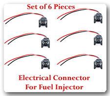 6 Kit Electrical Connector of Fuel Injector FJ603Fits:Mercedes 2001-2005V6 3.2L