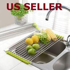 US SHIP Sink Storage Dish Drying Rack Fruit Vegetable Strainer Colanders Kitchen