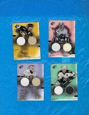 PATRICK ROY 2000-01 SPX WINNING MATERIALS LOT (4) JAROMIR JAGR POTVIN ROENICK