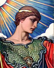 GREEK GODESS OF WAR & CRAFTS ATHENA ELIHU VEDDER PAINTING ART REAL CANVAS PRINT
