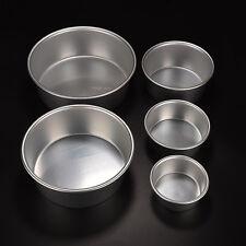 Round Aluminum Bake Tin Pan Mold Mould for Sandwich Cake Kitchen DIY 6 Size qq